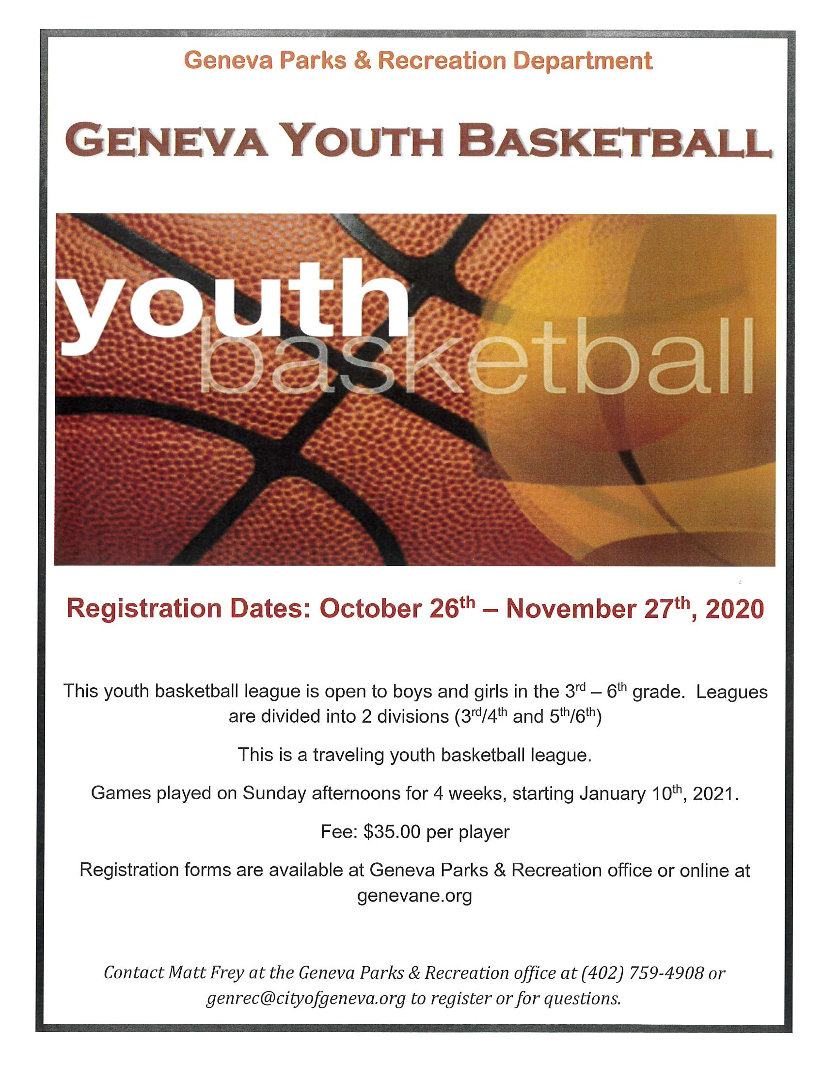 2021 Youth Basketball-Geneva only
